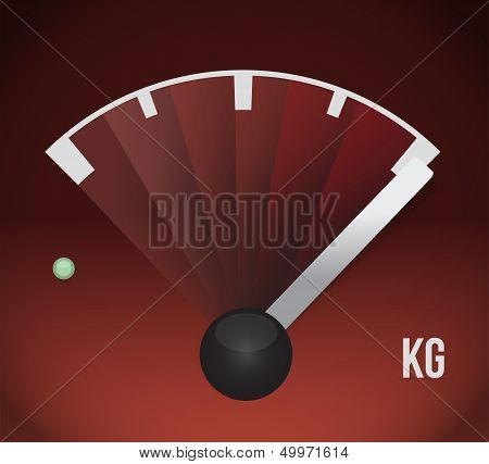 Kg Weight Gas Tank Illustration