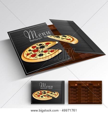 Menu card design for restaurant.