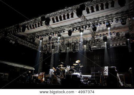 Stage In Lights Dark