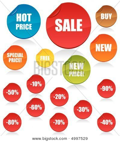 Set Of Shopping Vector Tags