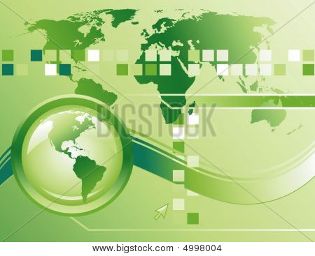 Green Technology Internet Abstract Background
