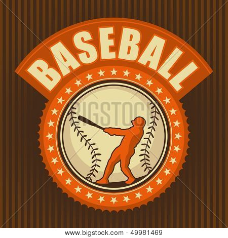 Retro baseball badge. Vector illustration.
