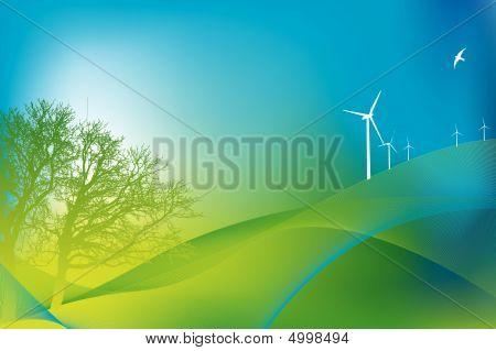 Eco And Tree Background