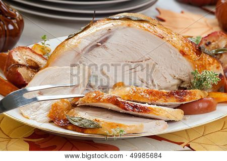 Turkey Breast With Sage - Honey Rub