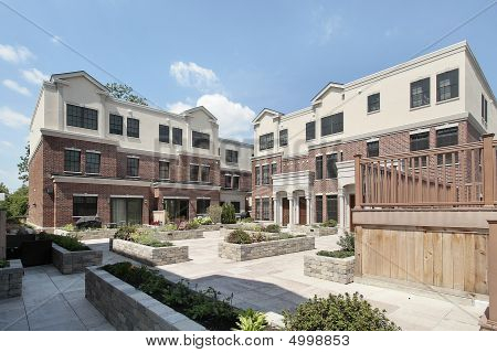 Rear View Of New Construction Townhouses
