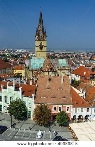 Sibiu Downtown In Transylvania, Romania