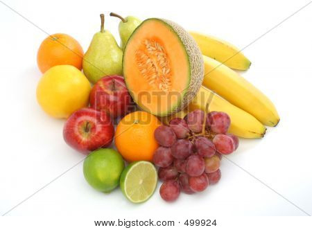 Colorful Group Of Fresh Fruits