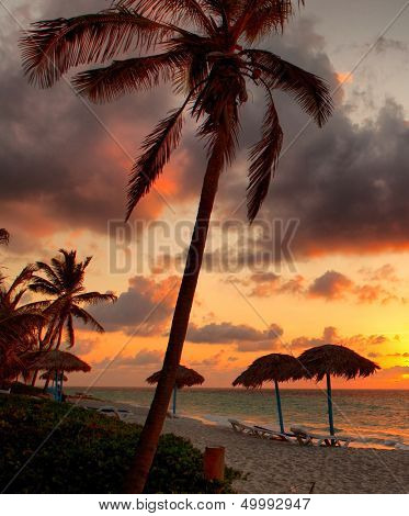 Beach at sunset, Varadero, Cuba