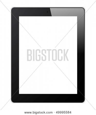 Digital Tablet Isolated on White Background. Vector Illustration EPS 10.