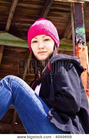 Beautiful Teenager With A Hat