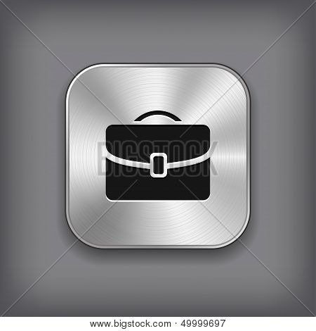 Case Icon - Vector Metal App Button