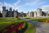 image of ireland  - Medieval Castle and hotel at sunny day in Ashford Mayo Ireland - JPG