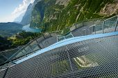 stock photo of hydro-electric  - View from Kaprun dam wall - JPG