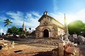 stock photo of cobblestone  - village Altos de Chavon - JPG