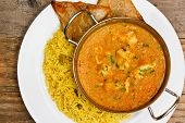 stock photo of curry chicken  - Chicken Korma a popular indian curry dish and favourite with people not keen on spicy food - JPG