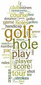 picture of designated driver  - Golf sports based terms word cloud tags - JPG