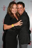 LOS ANGELES - AUG 24:  Catherine Bach, Christian LeBlanc at the Young & Restless Fan Club Dinner at