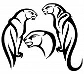 picture of panther  - panther tribal vector design  - JPG