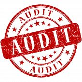 foto of financial audit  - Audit Red stamp  - JPG