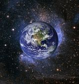 image of courtesy  - Planet Earth and stars  - JPG