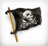 stock photo of crossed swords  - Jolly Roger - JPG