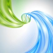 picture of purity  - Abstract green and blue wave background - JPG