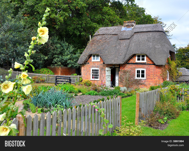Old English Thatched Cottage 2 Image & Photo