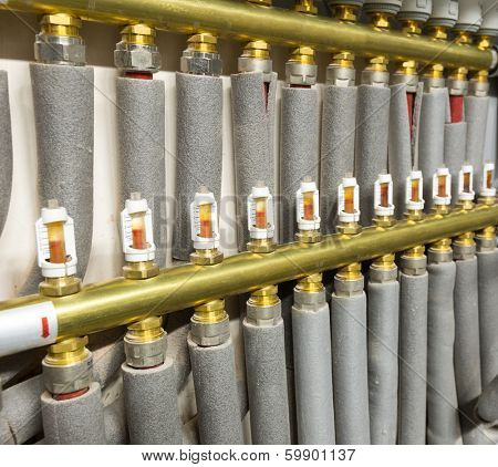 Pipes of heating system