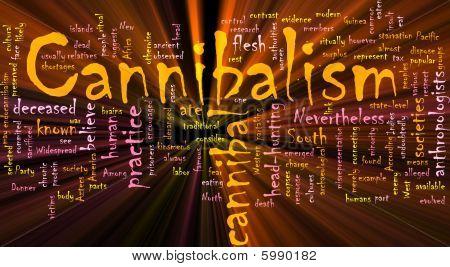 Cannibalism Word Cloud Glowing