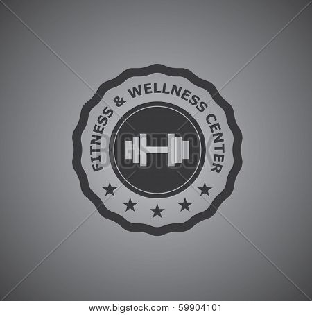 Fitness and wellness center badge