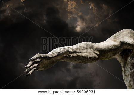 hand from darkness
