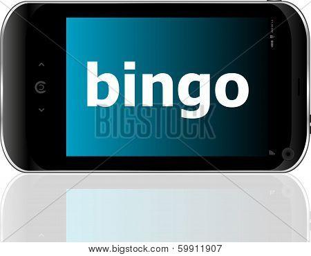 Smart Phone With Bingo Word