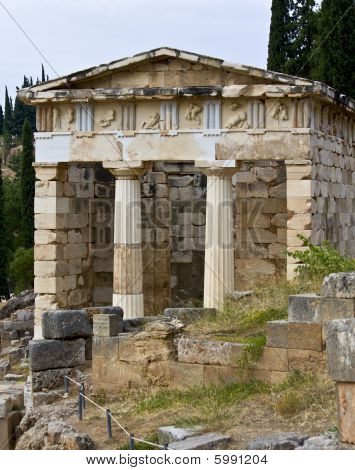 Treasure of the Athenians at Delphi, Greece
