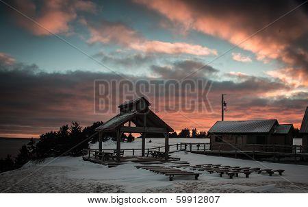 Bandstand at dusk