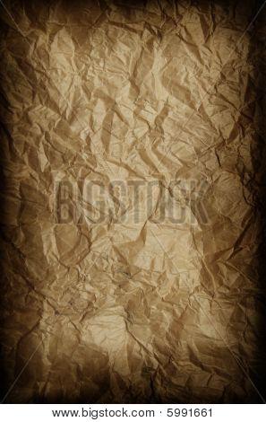 Grunge Crumpled Craft Paper