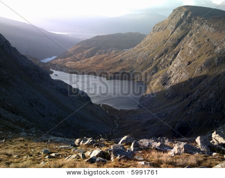 Scottish glen and loch.