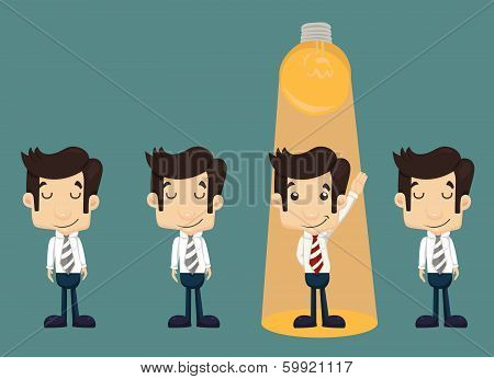 Businessman Make Idea