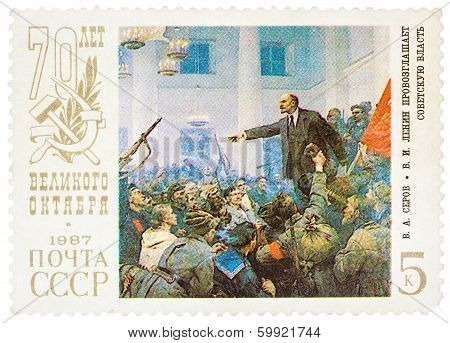 Stamp Printed In Russia Shows