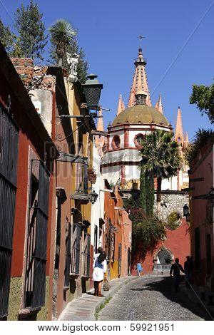Street view in San Miguel de Allende