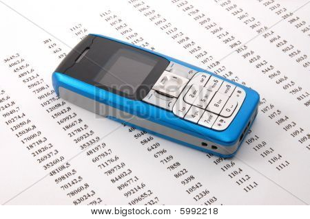 Cell Phone Over Business Chart