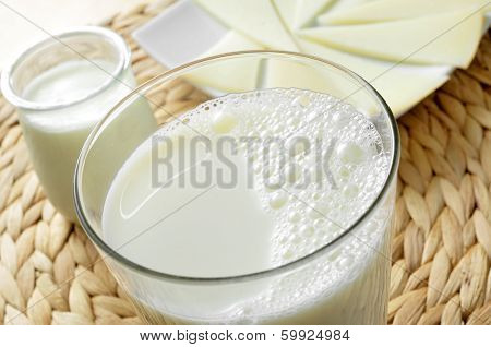 some dairy products such as milk, yogurt or cheese
