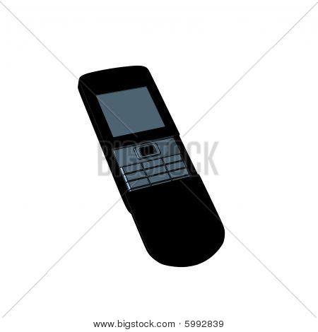 Stylish black phone