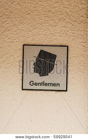 Gentleman Sign