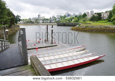Five Rowboats In False Greek, Vancouver , Canada