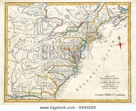 Karte von Nordamerika.