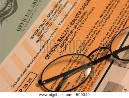 """Boleta de votación (enfoque """"Boleta oficial"""" texto)"""