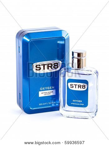 Aftershave Lotion Isolated On White