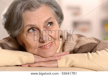 Lovely elderly woman