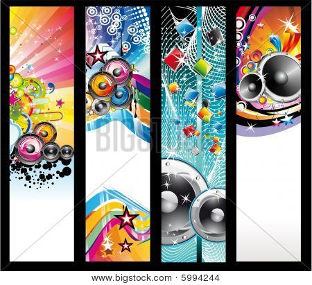 Music Background For Discoteque Flyers with high contrast colours