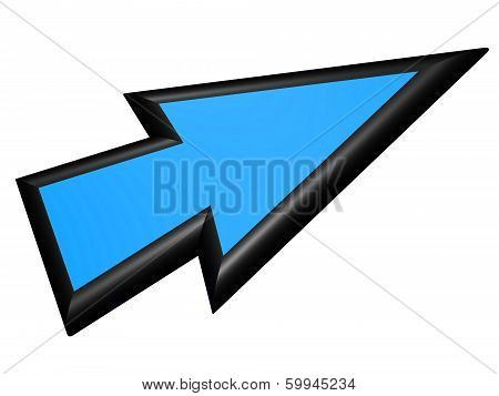 Black And Blue Arrowhead